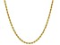 10k Yellow Gold Hollow 1.5mm Diamond Cut Rope 18 inch Chain Necklace