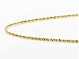 10k Yellow Gold Hollow 1.5mm Diamond Cut Rope 20 inch Chain Necklace