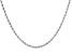 10K White Gold 1.5MM Diamond Cut Rope 20 Inch Chain
