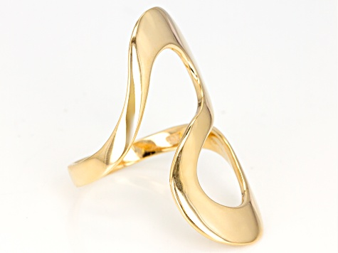 10k Yellow Gold Polished Bypass Ring