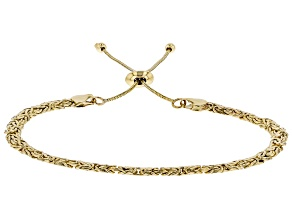 10k Yellow Gold Byzantine Sliding Adjustable Bracelet
