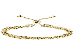 10k Yellow Gold Adjustable Rosetta Bracelet
