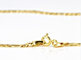 10k Yellow Gold 3.2mm Figaro 20 inch Chain Necklace