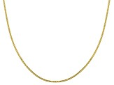 10k Yellow Gold 0.78mm Curb 18 inch Chain Necklace