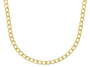 10k Yellow Gold 3.2mm Curb 18 inch Chain Necklace