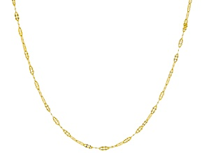 10k Yellow Gold 1.43mm Flat Cable 20 inch Chain Necklace