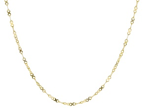 10k Yellow Gold Designer Curb 18 inch Chain Necklace