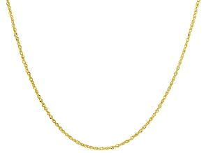 10k Yellow Gold 0.65mm Designer 18 inch Chain Necklace