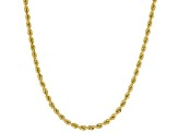 10k Yellow Gold 2.05mm Silk Rope 18 inch Chain Necklace