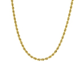 10k Yellow Gold 2.05mm Silk Rope 20 inch Chain Necklace
