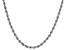 10k White Gold 2.05mm Silk Rope 20 Inch Chain