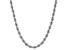 10K White Gold 2.05 Silk Rope 24 Inch Chain