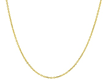Picture of 14k Yellow Gold 0.63mm Diamond Cut Rolo 18 inch Chain Necklace
