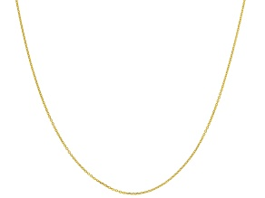 14k Yellow Gold 0.43mm Designer Rolo 18 inch Chain Necklace