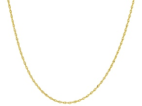 14k Yellow Gold 0.98mm Diamond Cut Singapore 18 inch Chain Necklace