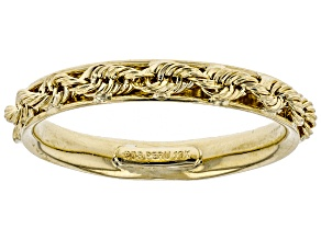 10k Yellow Gold Rope Band Ring