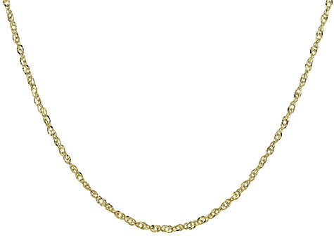 14K Yellow Gold Double Singapore 18 inch Chain