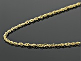 14k Yellow Gold Double Singapore 18 inch Chain Necklace