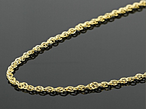 14k Yellow Gold Double Singapore 20 inch Chain Necklace