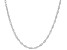 14K White Gold Double Singapore 18 Inch Chain