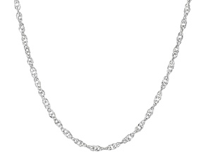 14K White Gold Double Singapore 20 Inch Chain