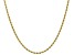 14K Yellow Gold 1.5MM Polished Rope Chain