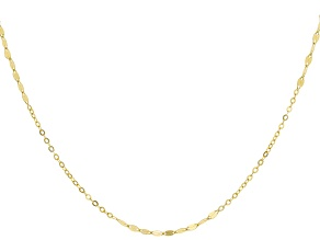 14k Yellow Gold Designer Rolo 24 inch Chain Necklace
