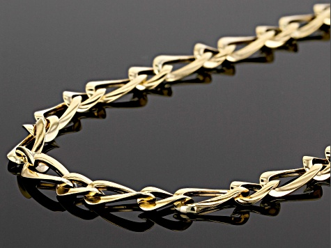 10k Yellow Gold Designer Figaro 18 inch Chain Necklace