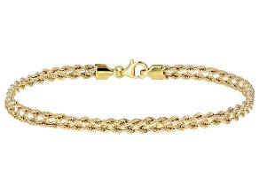 10k Yellow Gold Designer Rope 7 1/2 inch Bracelet
