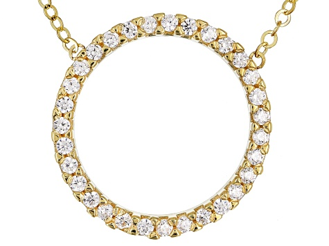 Bella Luce® 0.31ctw Diamond Simulant Round 10k Yellow Gold Circle 18 inch Necklace