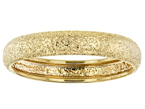 14k Yellow Gold Diamond Cut Comfort Fit Band Ring