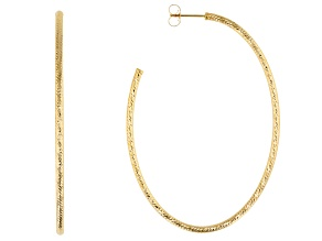 10k Yellow Gold Polished Tube Hoop Earrings