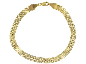 10k Yellow Gold Multi-Row Rolo 7 1/2 inch Bracelet
