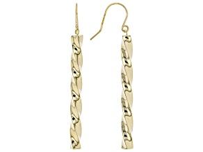 10k Yellow Gold Twisted Dangle Earrings