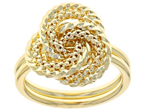 10k Yellow Gold Textured Love Knot Ring