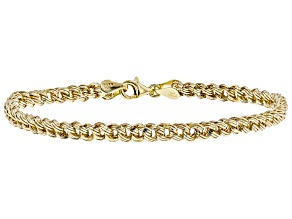10k Yellow Gold Diamond Cut Curb 7 1/2 inch Bracelet