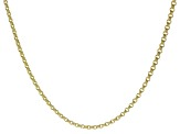 10k Yellow Gold 3.5MM Designer Square Curb 18 inch Necklace