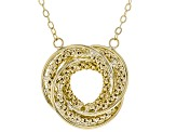 10k Yellow Gold Popcorn Love Knot 17 inch Necklace
