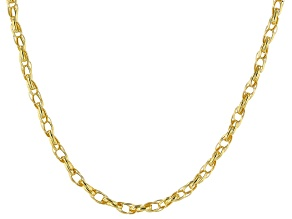 10K Yellow Gold 1.7MM Twisted Oval Link Necklace 18 Inch
