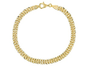 10K Yellow Gold Phoenix Fancy Design Link Bracelet 7.5 Inch