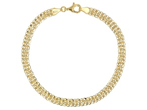 10K Yellow Gold Phoenix Fancy Design Link Bracelet 8 Inch