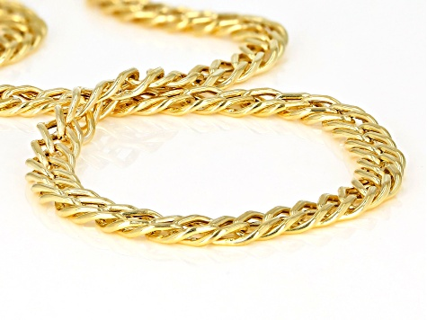 10K Yellow Gold Double Curb Bracelet 7.5 Inch