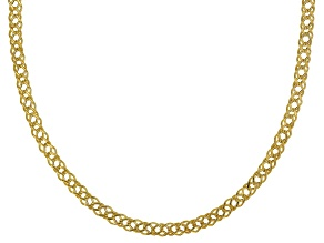 10K Yellow Gold Double Curb Chain Necklace 18 Inch