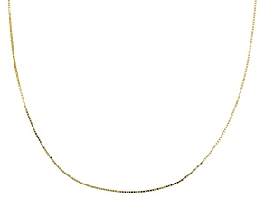 5ee00523d 10K Yellow Gold .5MM Box Chain Necklace 18 Inch