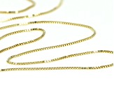 10K Yellow Gold .5MM Box Chain Necklace 18 Inch