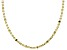 10K Yellow Gold Star Valentino Chain Necklace 18 Inch