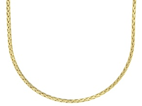 10K Yellow Gold 1.4MM Diamond Cut Wheat Chain Necklace 18 Inch
