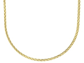 10K Yellow Gold 1.4MM Diamond Cut Wheat Chain Necklace 20 Inch
