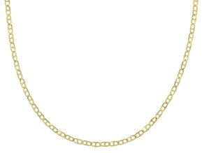 10K Yellow Gold .5MM Baby Porofino Designer Necklace 18 Inch