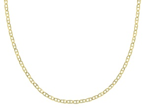 10K Yellow Gold .5MM Baby Portofino Designer Necklace 20 Inch